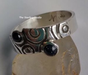 Sterling and Sapphire ring